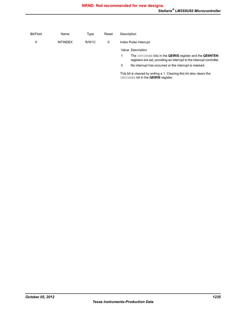 LM3S9U92-IBZ80-A2 ,Texas Instruments厂商,IC ARM CORTEX MCU 384KB 108NFBGA, LM3S9U92-IBZ80-A2 datasheet预览  第1235页