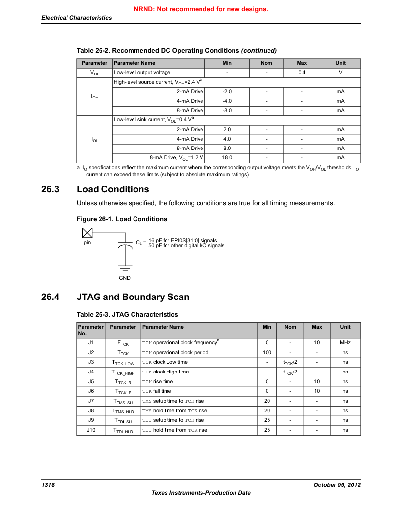 LM3S9U92-IBZ80-A2 ,Texas Instruments厂商,IC ARM CORTEX MCU 384KB 108NFBGA, LM3S9U92-IBZ80-A2 datasheet预览  第1318页