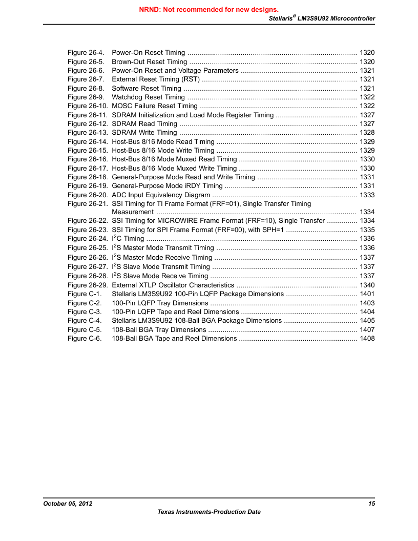 LM3S9U92-IBZ80-A2 ,Texas Instruments厂商,IC ARM CORTEX MCU 384KB 108NFBGA, LM3S9U92-IBZ80-A2 datasheet预览  第15页