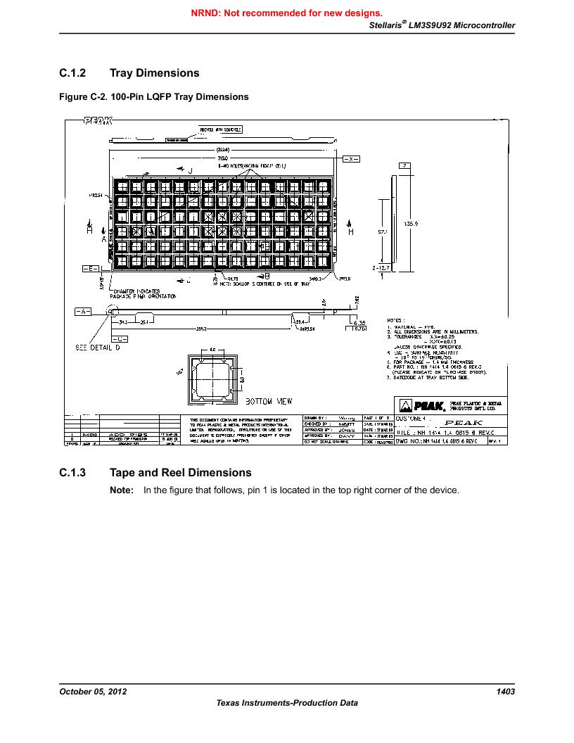 LM3S9U92-IBZ80-A2 ,Texas Instruments厂商,IC ARM CORTEX MCU 384KB 108NFBGA, LM3S9U92-IBZ80-A2 datasheet预览  第1403页