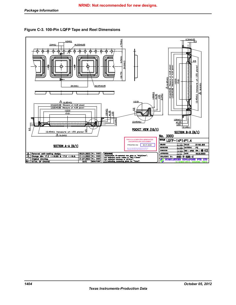 LM3S9U92-IBZ80-A2 ,Texas Instruments厂商,IC ARM CORTEX MCU 384KB 108NFBGA, LM3S9U92-IBZ80-A2 datasheet预览  第1404页
