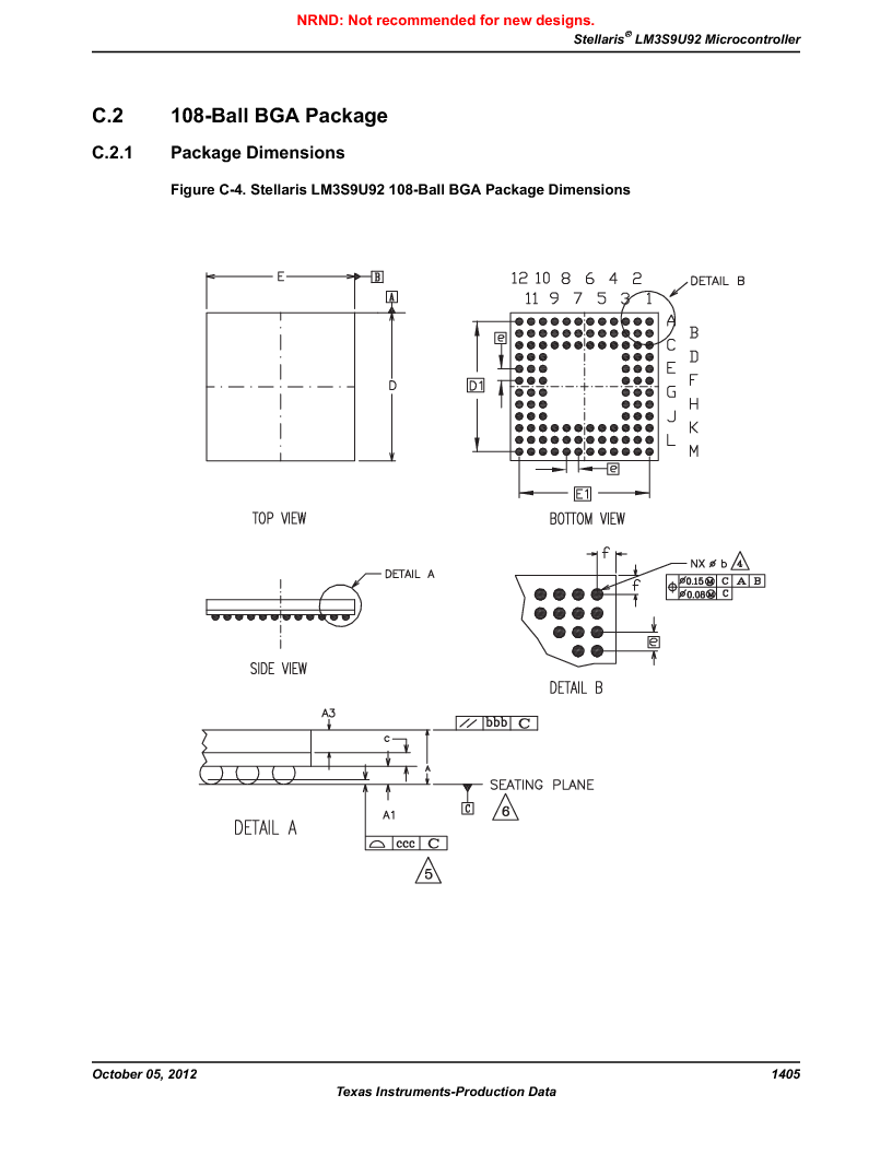 LM3S9U92-IBZ80-A2 ,Texas Instruments厂商,IC ARM CORTEX MCU 384KB 108NFBGA, LM3S9U92-IBZ80-A2 datasheet预览  第1405页