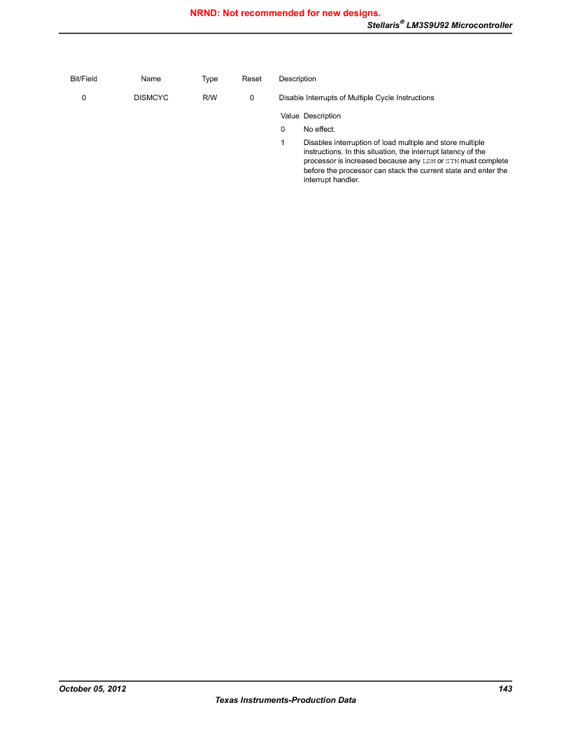 LM3S9U92-IBZ80-A2 ,Texas Instruments厂商,IC ARM CORTEX MCU 384KB 108NFBGA, LM3S9U92-IBZ80-A2 datasheet预览  第143页