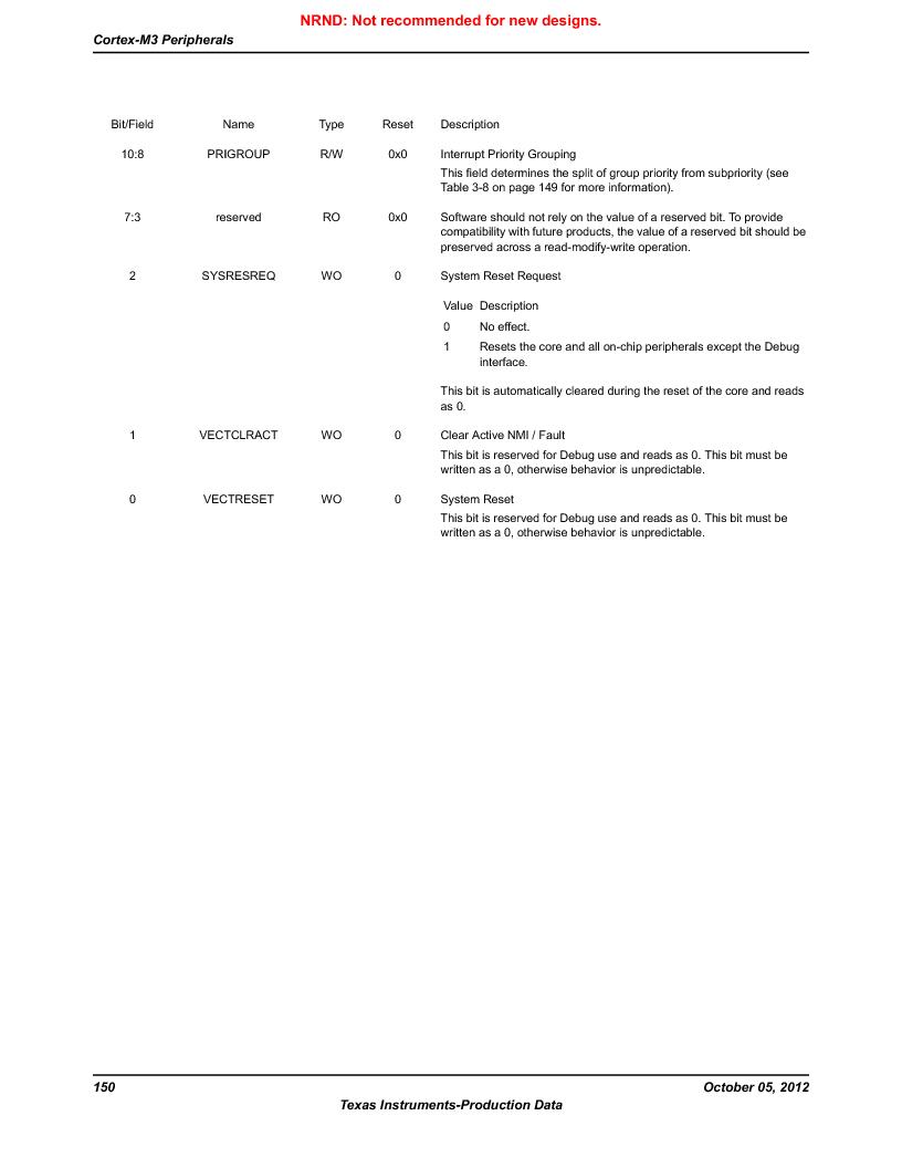 LM3S9U92-IBZ80-A2 ,Texas Instruments厂商,IC ARM CORTEX MCU 384KB 108NFBGA, LM3S9U92-IBZ80-A2 datasheet预览  第150页