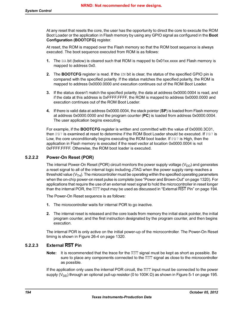 LM3S9U92-IBZ80-A2 ,Texas Instruments厂商,IC ARM CORTEX MCU 384KB 108NFBGA, LM3S9U92-IBZ80-A2 datasheet预览  第194页