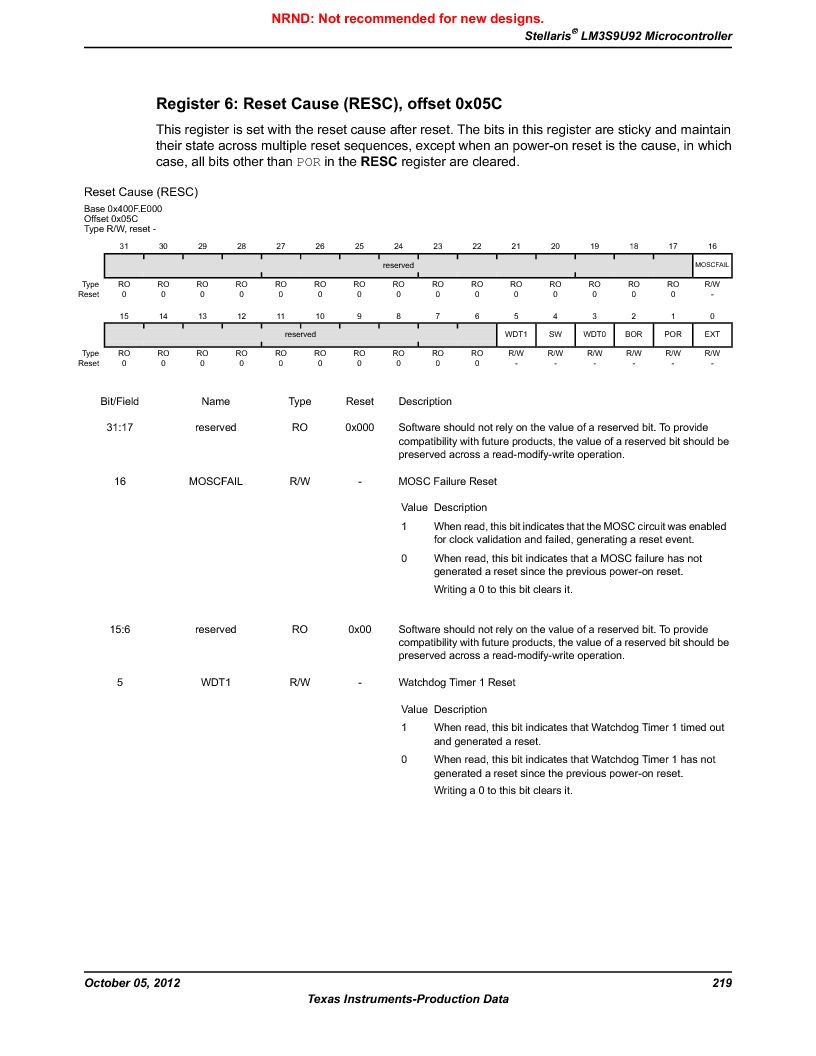 LM3S9U92-IBZ80-A2 ,Texas Instruments厂商,IC ARM CORTEX MCU 384KB 108NFBGA, LM3S9U92-IBZ80-A2 datasheet预览  第219页