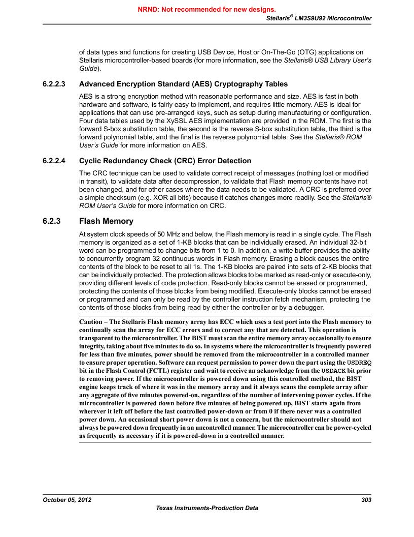 LM3S9U92-IBZ80-A2 ,Texas Instruments厂商,IC ARM CORTEX MCU 384KB 108NFBGA, LM3S9U92-IBZ80-A2 datasheet预览  第303页
