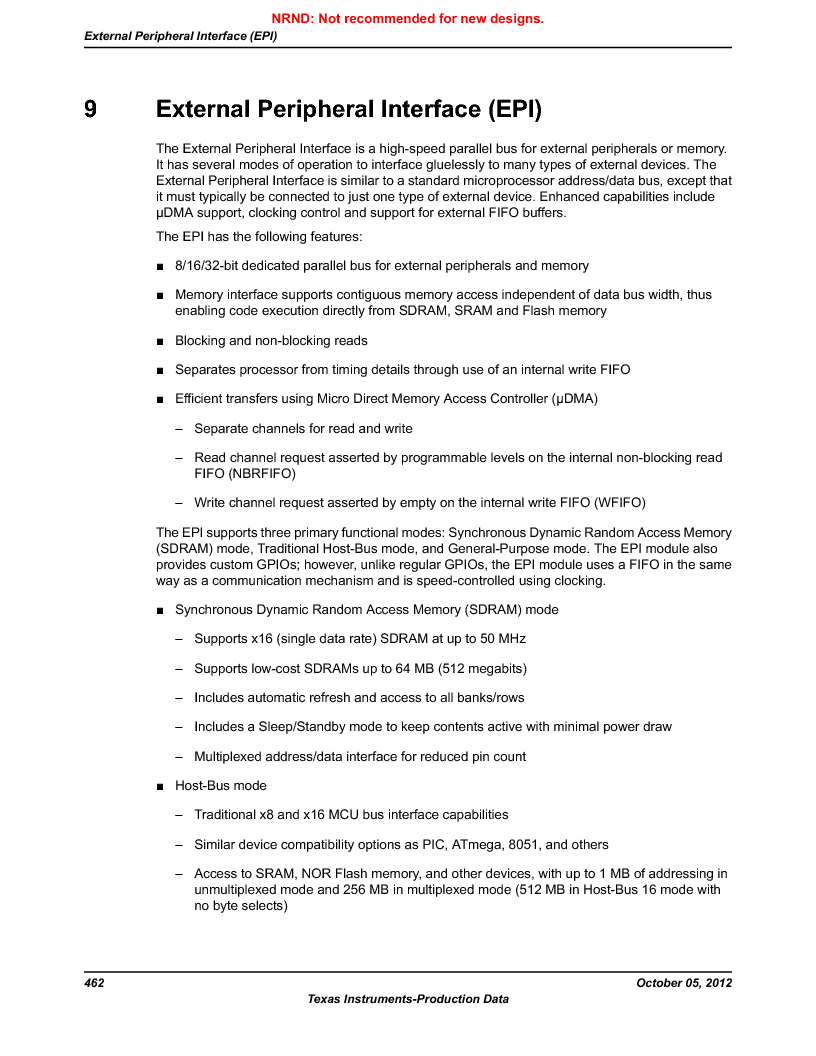 LM3S9U92-IBZ80-A2 ,Texas Instruments厂商,IC ARM CORTEX MCU 384KB 108NFBGA, LM3S9U92-IBZ80-A2 datasheet预览  第462页