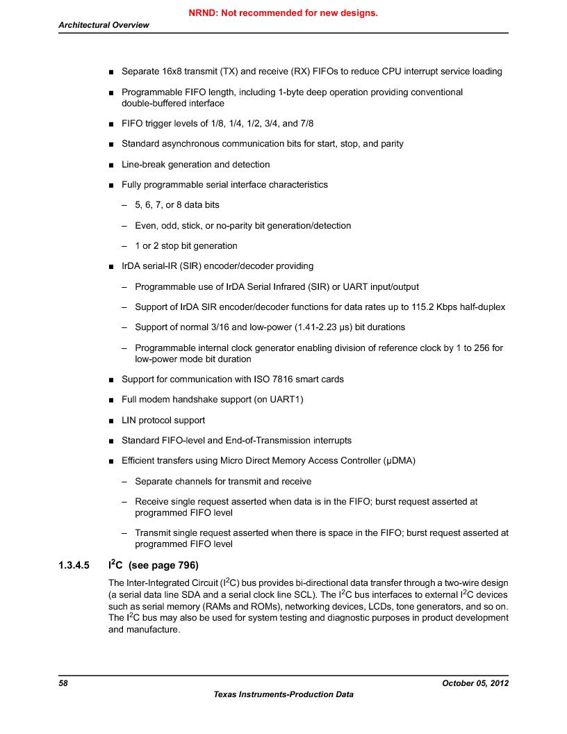 LM3S9U92-IBZ80-A2 ,Texas Instruments厂商,IC ARM CORTEX MCU 384KB 108NFBGA, LM3S9U92-IBZ80-A2 datasheet预览  第58页