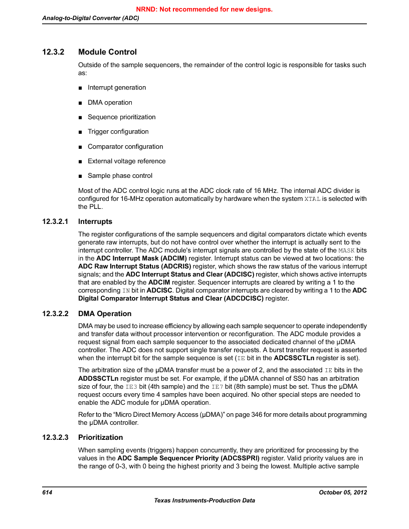 LM3S9U92-IBZ80-A2 ,Texas Instruments厂商,IC ARM CORTEX MCU 384KB 108NFBGA, LM3S9U92-IBZ80-A2 datasheet预览  第614页