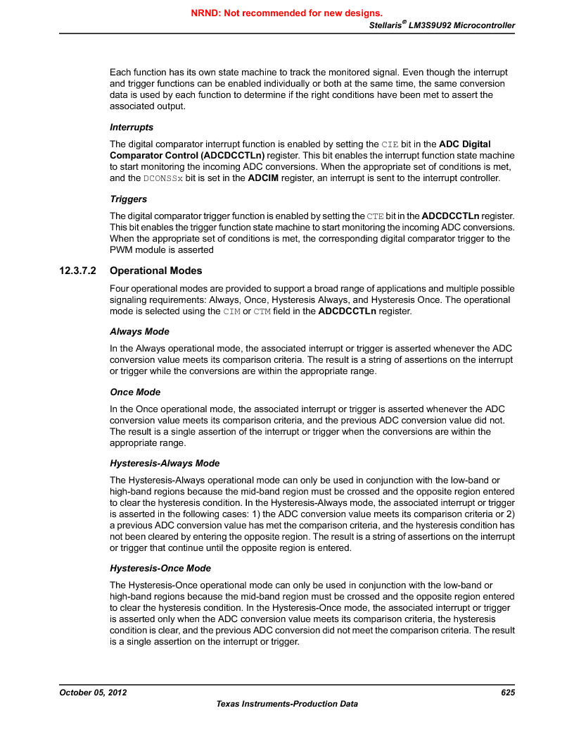 LM3S9U92-IBZ80-A2 ,Texas Instruments厂商,IC ARM CORTEX MCU 384KB 108NFBGA, LM3S9U92-IBZ80-A2 datasheet预览  第625页