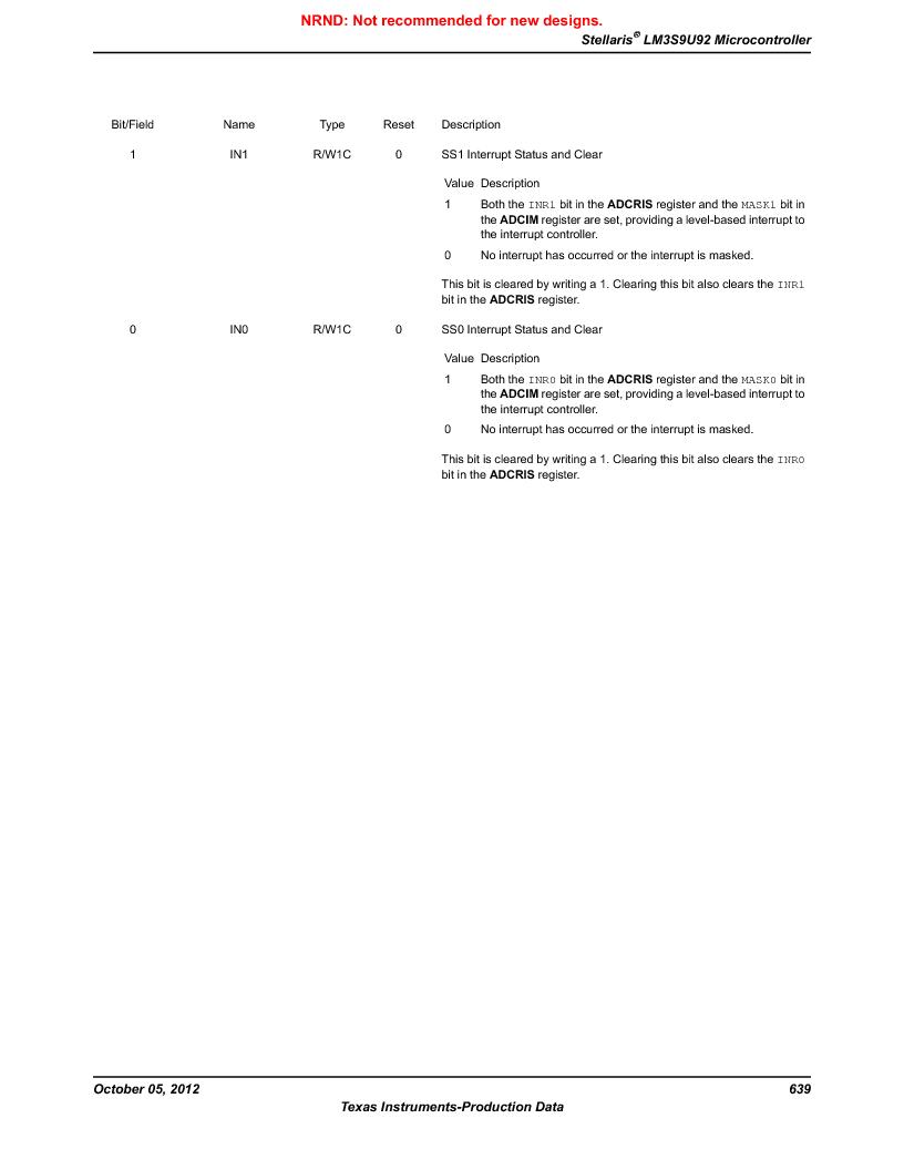 LM3S9U92-IBZ80-A2 ,Texas Instruments厂商,IC ARM CORTEX MCU 384KB 108NFBGA, LM3S9U92-IBZ80-A2 datasheet预览  第639页