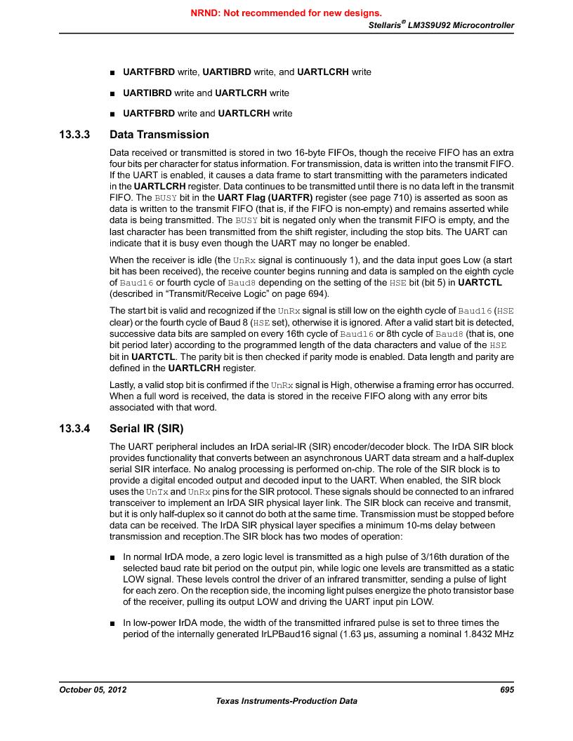 LM3S9U92-IBZ80-A2 ,Texas Instruments厂商,IC ARM CORTEX MCU 384KB 108NFBGA, LM3S9U92-IBZ80-A2 datasheet预览  第695页
