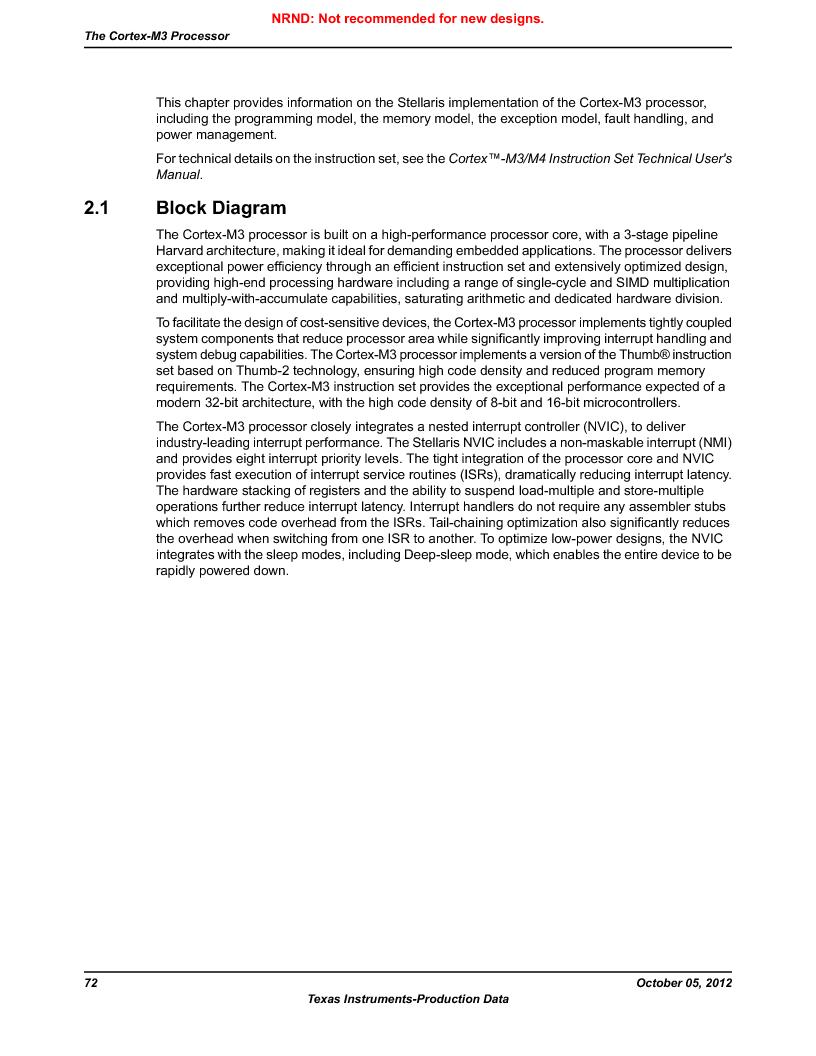 LM3S9U92-IBZ80-A2 ,Texas Instruments厂商,IC ARM CORTEX MCU 384KB 108NFBGA, LM3S9U92-IBZ80-A2 datasheet预览  第72页