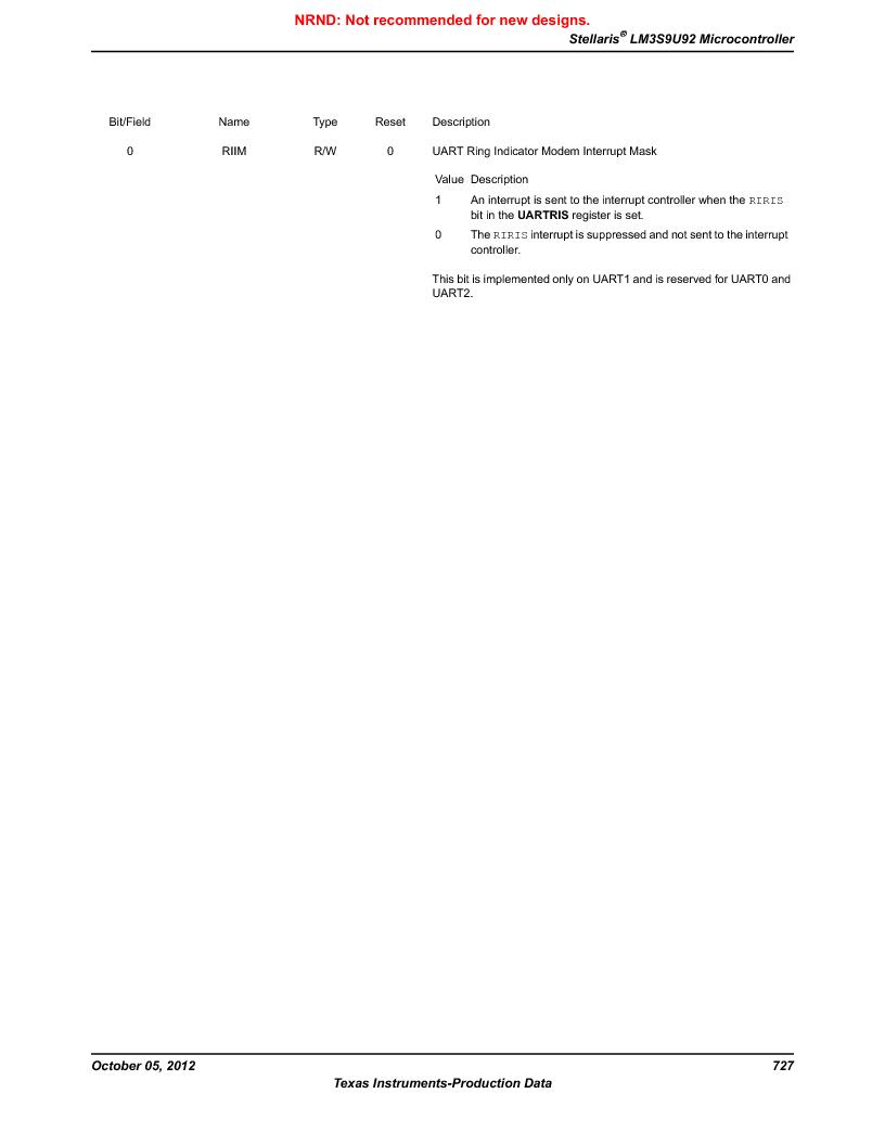 LM3S9U92-IBZ80-A2 ,Texas Instruments厂商,IC ARM CORTEX MCU 384KB 108NFBGA, LM3S9U92-IBZ80-A2 datasheet预览  第727页