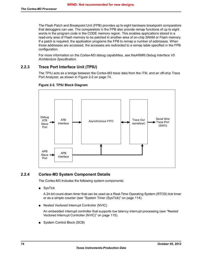 LM3S9U92-IBZ80-A2 ,Texas Instruments厂商,IC ARM CORTEX MCU 384KB 108NFBGA, LM3S9U92-IBZ80-A2 datasheet预览  第74页