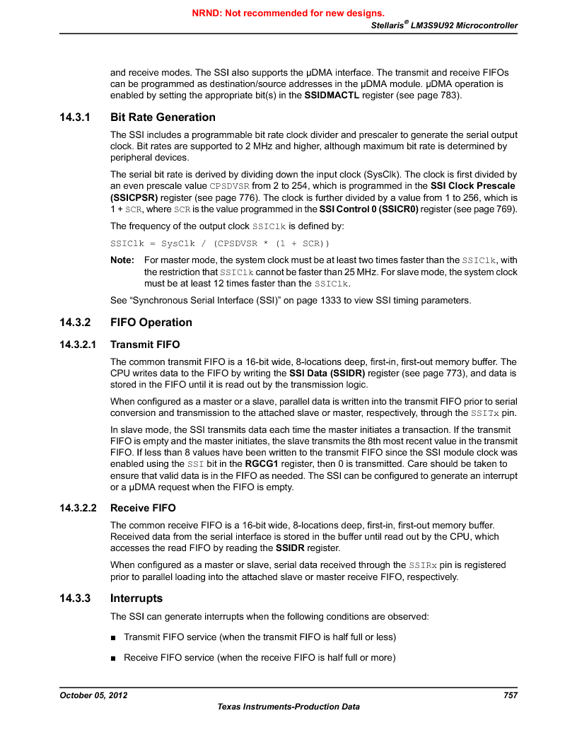 LM3S9U92-IBZ80-A2 ,Texas Instruments厂商,IC ARM CORTEX MCU 384KB 108NFBGA, LM3S9U92-IBZ80-A2 datasheet预览  第757页