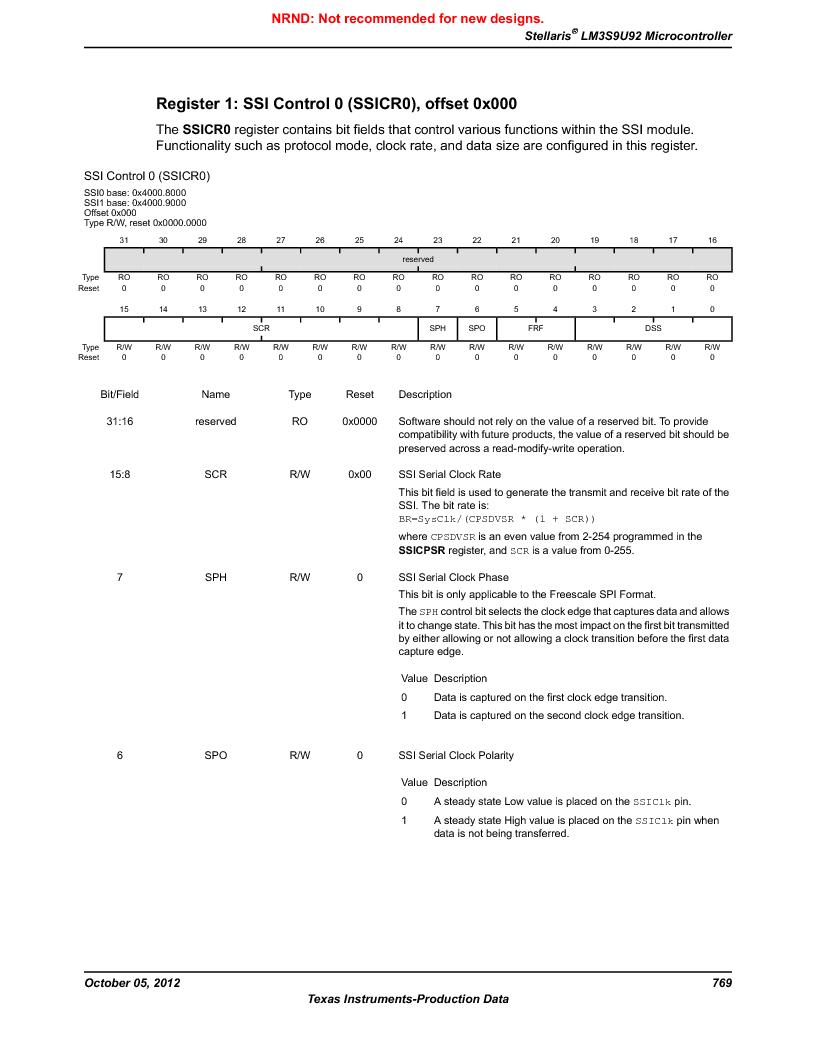 LM3S9U92-IBZ80-A2 ,Texas Instruments厂商,IC ARM CORTEX MCU 384KB 108NFBGA, LM3S9U92-IBZ80-A2 datasheet预览  第769页