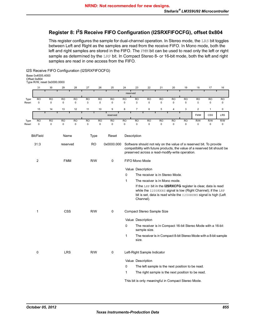 LM3S9U92-IBZ80-A2 ,Texas Instruments厂商,IC ARM CORTEX MCU 384KB 108NFBGA, LM3S9U92-IBZ80-A2 datasheet预览  第855页