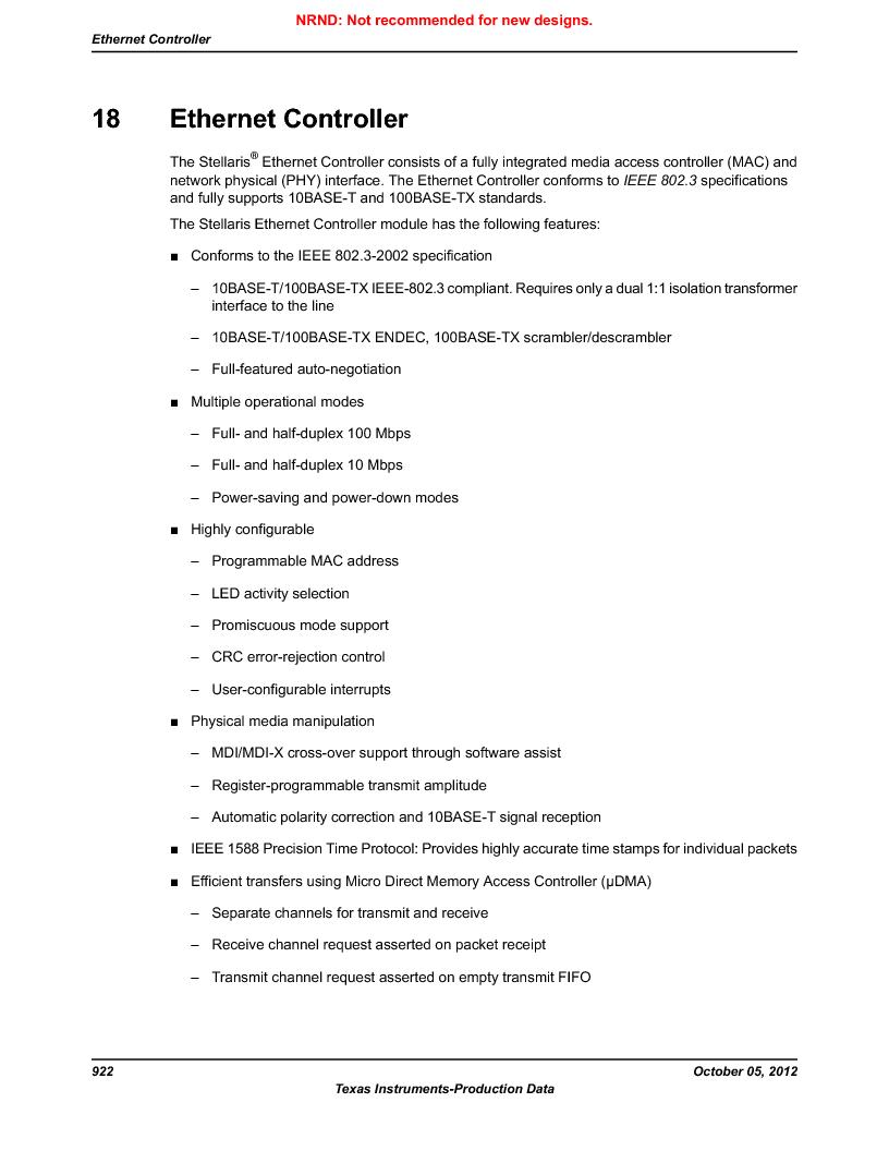 LM3S9U92-IBZ80-A2 ,Texas Instruments厂商,IC ARM CORTEX MCU 384KB 108NFBGA, LM3S9U92-IBZ80-A2 datasheet预览  第922页