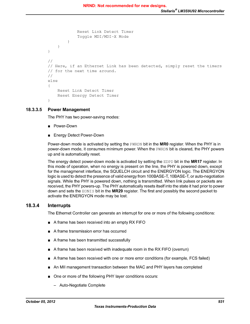 LM3S9U92-IBZ80-A2 ,Texas Instruments厂商,IC ARM CORTEX MCU 384KB 108NFBGA, LM3S9U92-IBZ80-A2 datasheet预览  第931页