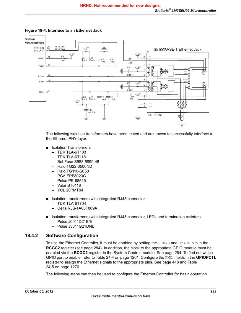 LM3S9U92-IBZ80-A2 ,Texas Instruments厂商,IC ARM CORTEX MCU 384KB 108NFBGA, LM3S9U92-IBZ80-A2 datasheet预览  第933页