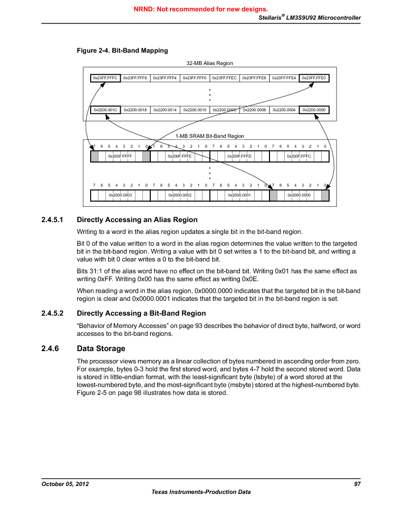 LM3S9U92-IBZ80-A2 ,Texas Instruments厂商,IC ARM CORTEX MCU 384KB 108NFBGA, LM3S9U92-IBZ80-A2 datasheet预览  第97页