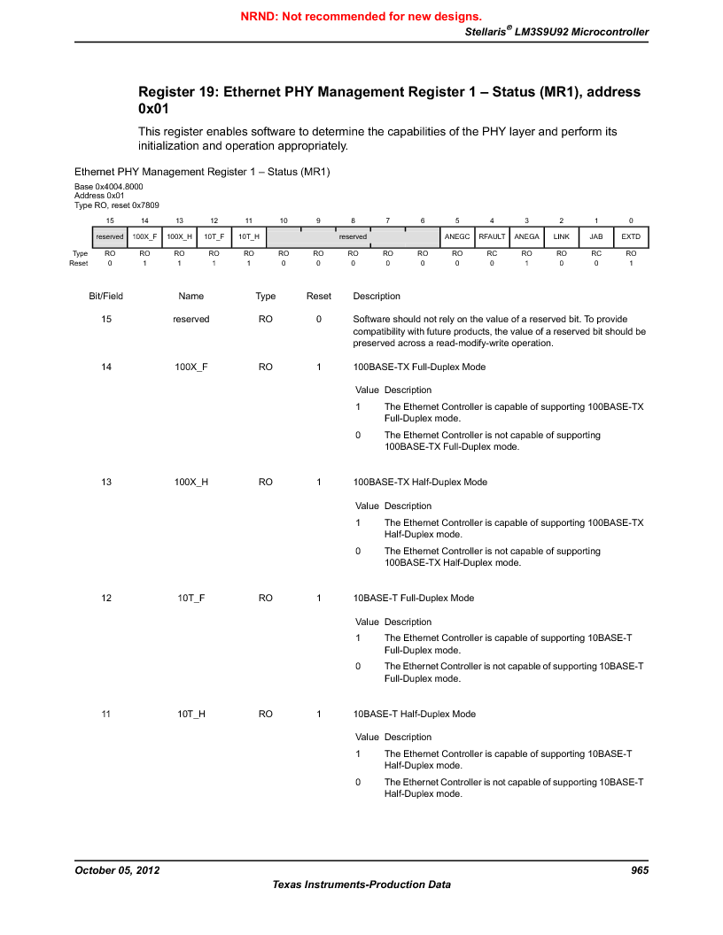 LM3S9U92-IBZ80-A2 ,Texas Instruments厂商,IC ARM CORTEX MCU 384KB 108NFBGA, LM3S9U92-IBZ80-A2 datasheet预览  第965页