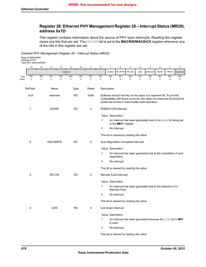 LM3S9U92-IBZ80-A2 ,Texas Instruments厂商,IC ARM CORTEX MCU 384KB 108NFBGA, LM3S9U92-IBZ80-A2 datasheet预览  第978页