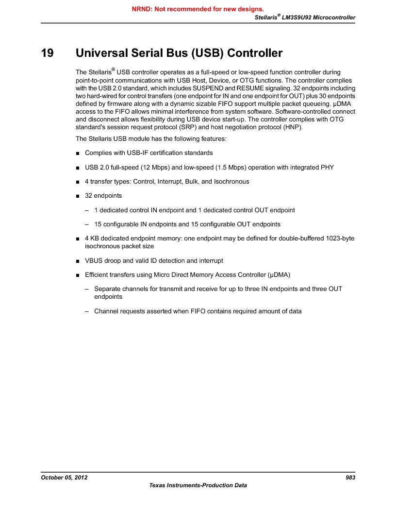 LM3S9U92-IBZ80-A2 ,Texas Instruments厂商,IC ARM CORTEX MCU 384KB 108NFBGA, LM3S9U92-IBZ80-A2 datasheet预览  第983页