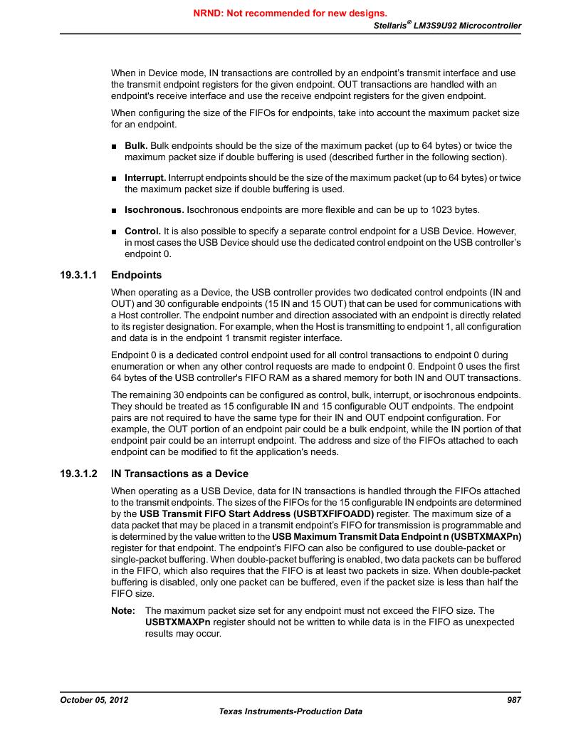LM3S9U92-IBZ80-A2 ,Texas Instruments厂商,IC ARM CORTEX MCU 384KB 108NFBGA, LM3S9U92-IBZ80-A2 datasheet预览  第987页