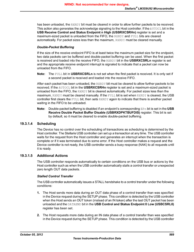LM3S9U92-IBZ80-A2 ,Texas Instruments厂商,IC ARM CORTEX MCU 384KB 108NFBGA, LM3S9U92-IBZ80-A2 datasheet预览  第989页