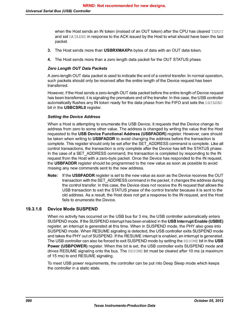 LM3S9U92-IBZ80-A2 ,Texas Instruments厂商,IC ARM CORTEX MCU 384KB 108NFBGA, LM3S9U92-IBZ80-A2 datasheet预览  第990页