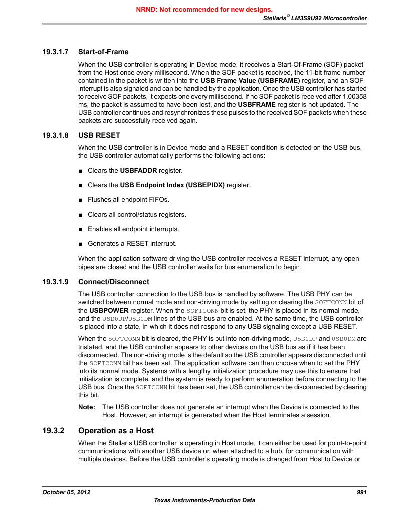 LM3S9U92-IBZ80-A2 ,Texas Instruments厂商,IC ARM CORTEX MCU 384KB 108NFBGA, LM3S9U92-IBZ80-A2 datasheet预览  第991页