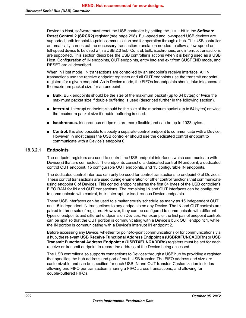 LM3S9U92-IBZ80-A2 ,Texas Instruments厂商,IC ARM CORTEX MCU 384KB 108NFBGA, LM3S9U92-IBZ80-A2 datasheet预览  第992页