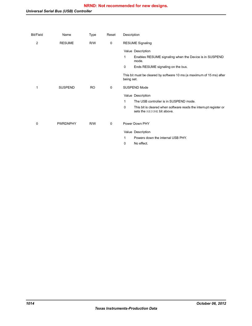 LM3S9U96-IBZ80-A1T ,Texas Instruments厂商,IC ARM CORTEX MCU 384KB 108NFBGA, LM3S9U96-IBZ80-A1T datasheet预览  第1014页