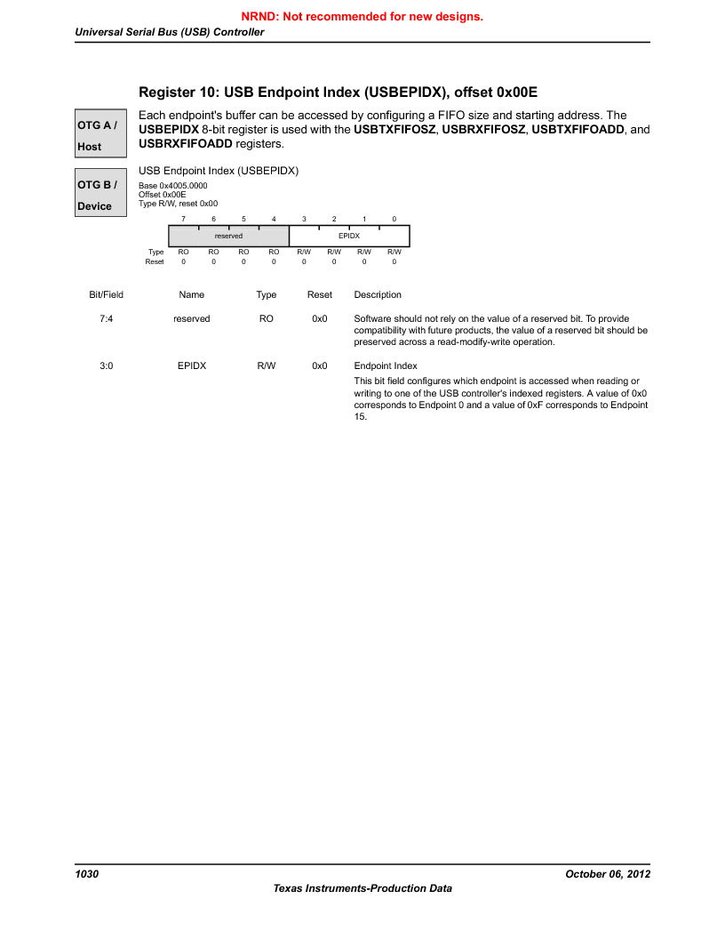 LM3S9U96-IBZ80-A1T ,Texas Instruments厂商,IC ARM CORTEX MCU 384KB 108NFBGA, LM3S9U96-IBZ80-A1T datasheet预览  第1030页