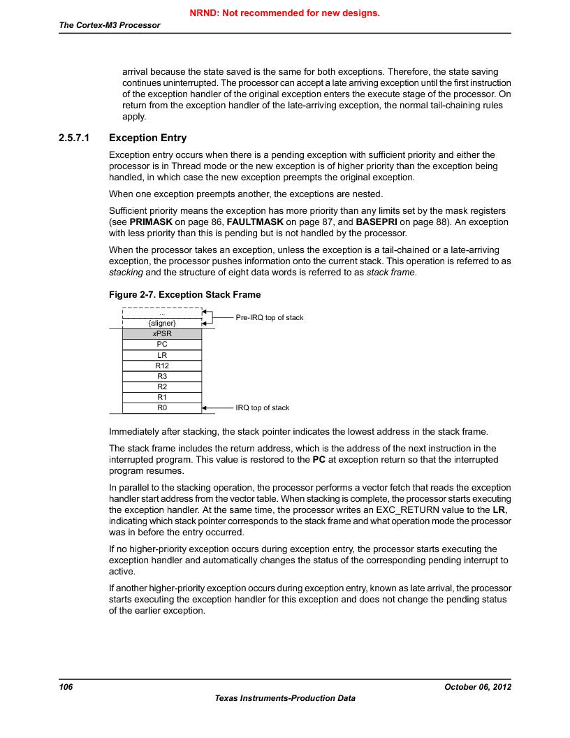 LM3S9U96-IBZ80-A1T ,Texas Instruments厂商,IC ARM CORTEX MCU 384KB 108NFBGA, LM3S9U96-IBZ80-A1T datasheet预览  第106页