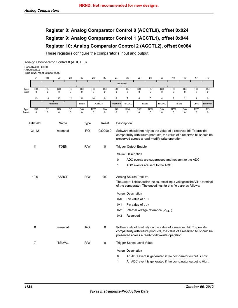 LM3S9U96-IBZ80-A1T ,Texas Instruments厂商,IC ARM CORTEX MCU 384KB 108NFBGA, LM3S9U96-IBZ80-A1T datasheet预览  第1134页