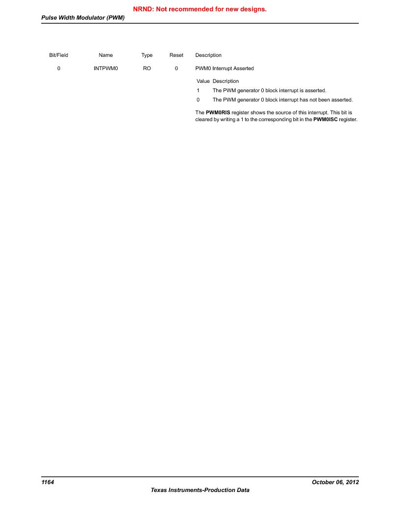 LM3S9U96-IBZ80-A1T ,Texas Instruments厂商,IC ARM CORTEX MCU 384KB 108NFBGA, LM3S9U96-IBZ80-A1T datasheet预览  第1164页