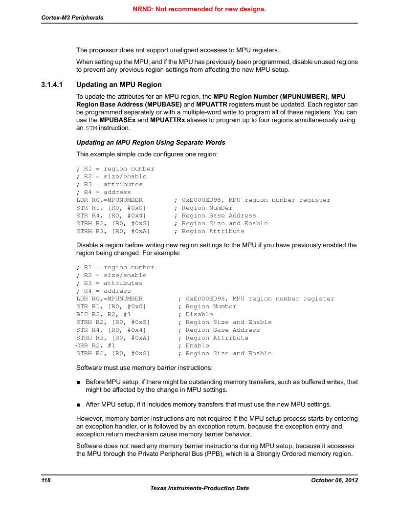 LM3S9U96-IBZ80-A1T ,Texas Instruments厂商,IC ARM CORTEX MCU 384KB 108NFBGA, LM3S9U96-IBZ80-A1T datasheet预览  第118页