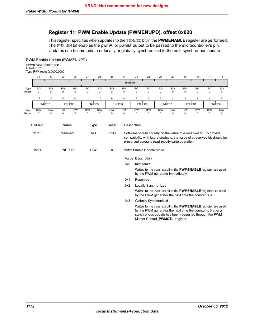 LM3S9U96-IBZ80-A1T ,Texas Instruments厂商,IC ARM CORTEX MCU 384KB 108NFBGA, LM3S9U96-IBZ80-A1T datasheet预览  第1172页