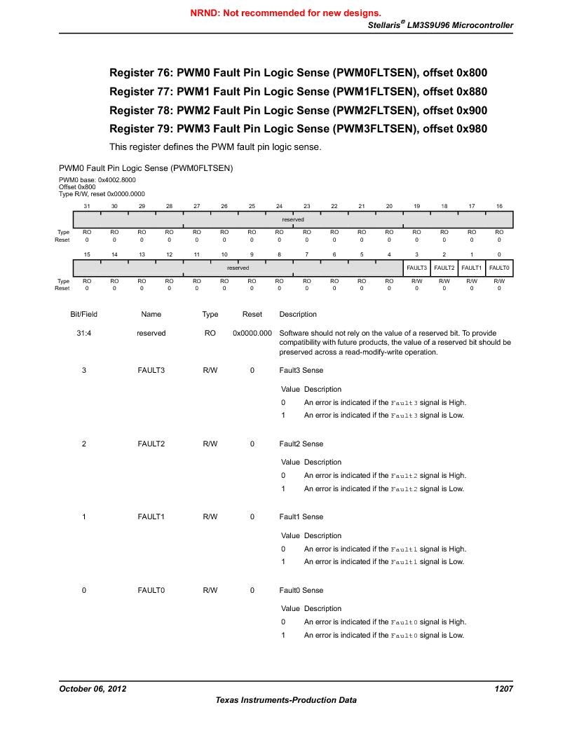 LM3S9U96-IBZ80-A1T ,Texas Instruments厂商,IC ARM CORTEX MCU 384KB 108NFBGA, LM3S9U96-IBZ80-A1T datasheet预览  第1207页