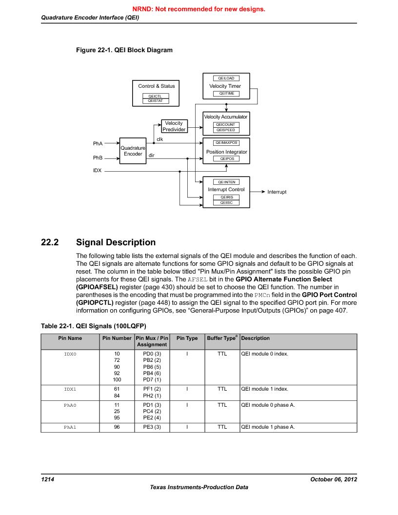 LM3S9U96-IBZ80-A1T ,Texas Instruments厂商,IC ARM CORTEX MCU 384KB 108NFBGA, LM3S9U96-IBZ80-A1T datasheet预览  第1214页