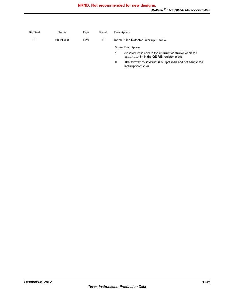 LM3S9U96-IBZ80-A1T ,Texas Instruments厂商,IC ARM CORTEX MCU 384KB 108NFBGA, LM3S9U96-IBZ80-A1T datasheet预览  第1231页