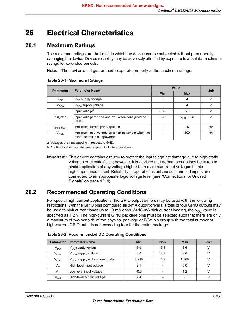 LM3S9U96-IBZ80-A1T ,Texas Instruments厂商,IC ARM CORTEX MCU 384KB 108NFBGA, LM3S9U96-IBZ80-A1T datasheet预览  第1317页