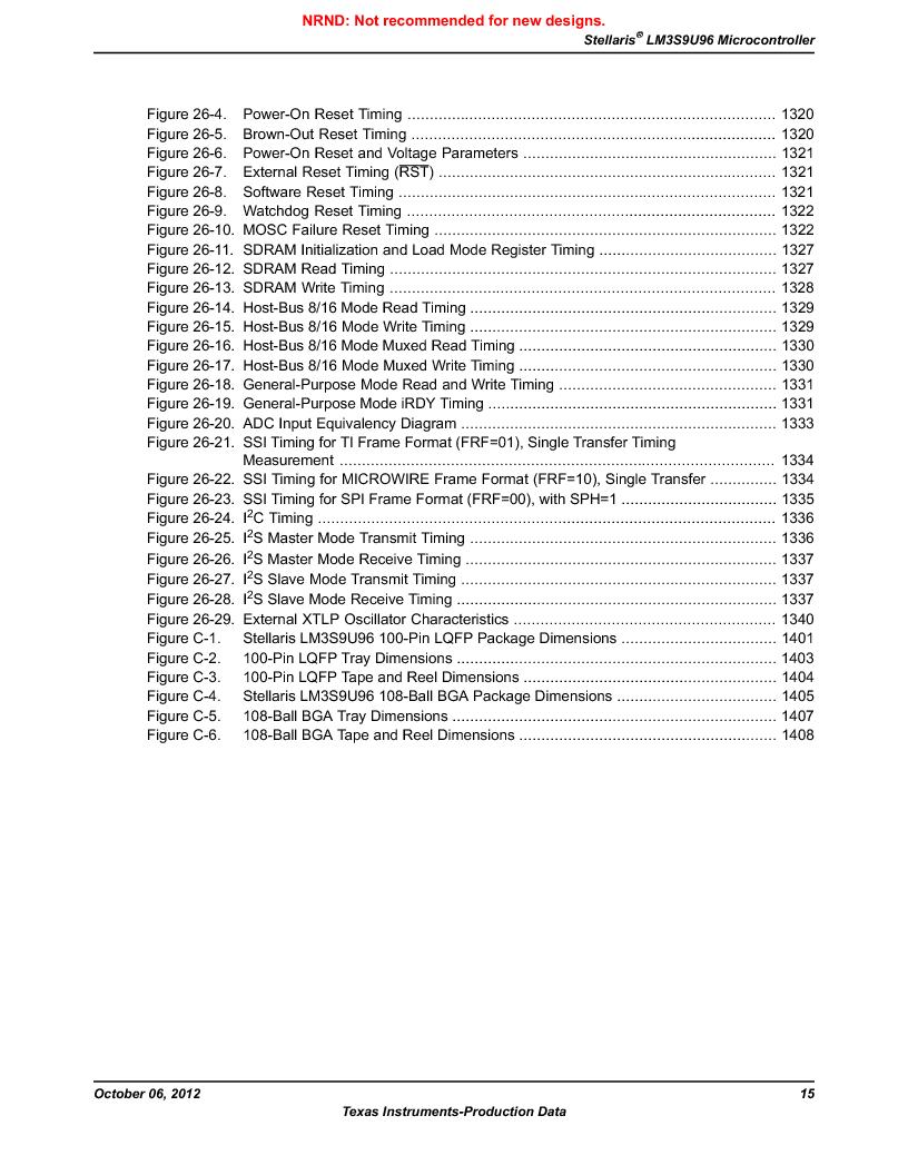 LM3S9U96-IBZ80-A1T ,Texas Instruments厂商,IC ARM CORTEX MCU 384KB 108NFBGA, LM3S9U96-IBZ80-A1T datasheet预览  第15页