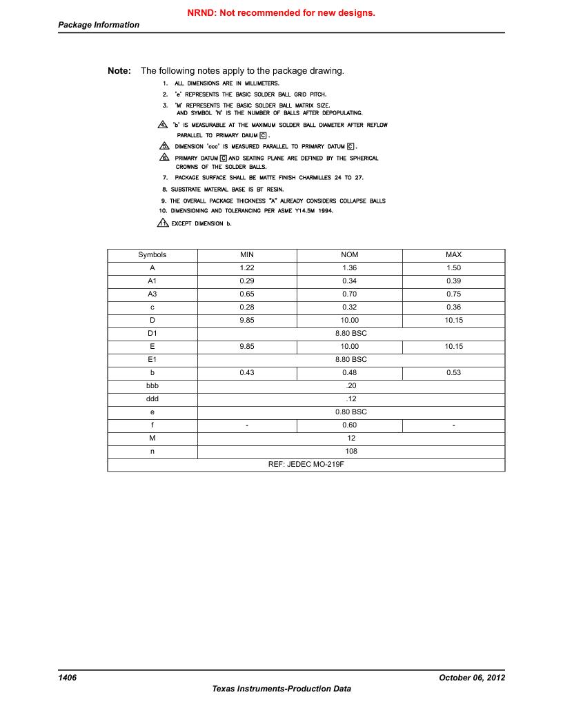 LM3S9U96-IBZ80-A1T ,Texas Instruments厂商,IC ARM CORTEX MCU 384KB 108NFBGA, LM3S9U96-IBZ80-A1T datasheet预览  第1406页