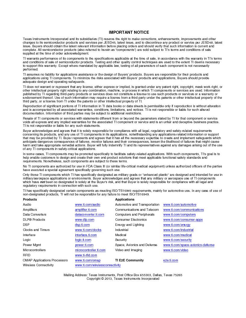 LM3S9U96-IBZ80-A1T ,Texas Instruments厂商,IC ARM CORTEX MCU 384KB 108NFBGA, LM3S9U96-IBZ80-A1T datasheet预览  第1411页