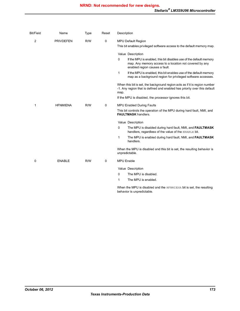 LM3S9U96-IBZ80-A1T ,Texas Instruments厂商,IC ARM CORTEX MCU 384KB 108NFBGA, LM3S9U96-IBZ80-A1T datasheet预览  第173页